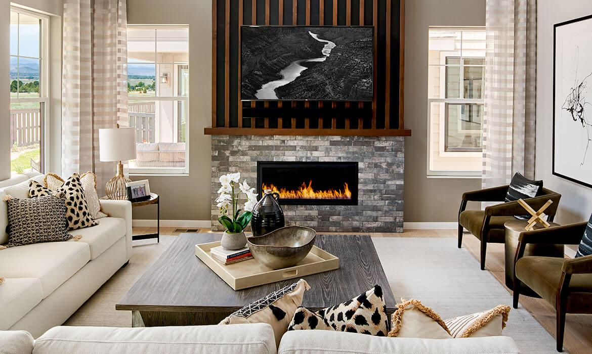 Stargaze at Solstice | Morningside Fireplace and Windows | A Boutique Community Near Chatfield State Park