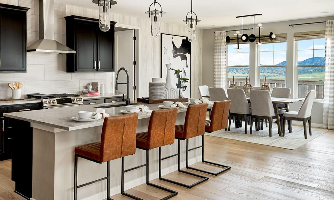 Morningside Model - Kitchen and Dining | Solstice | A New Home Community By Shea Homes