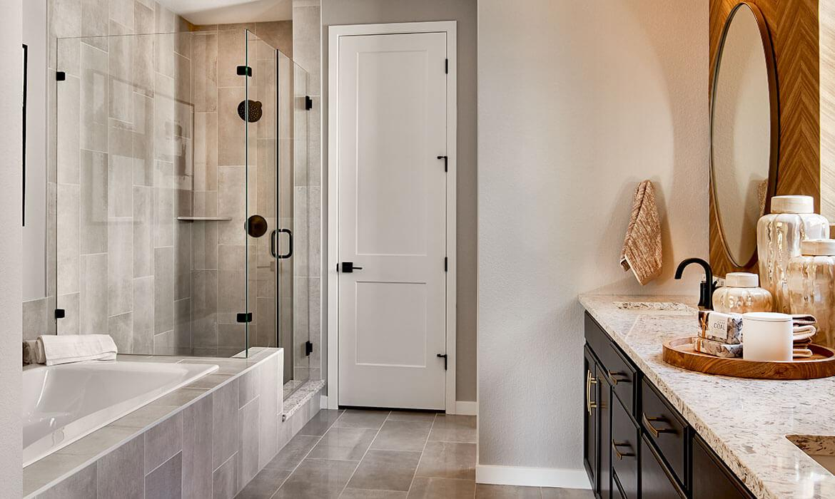 Morningside Model - Master Bathroom | Live Solstice | New Homes Near Chatfield Lake