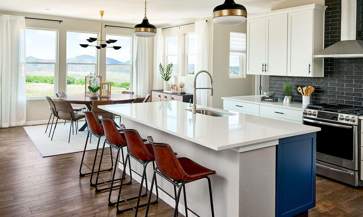 Twilight Model - Kitchen and Dining | Stargaze at Solstice by Shea Homes | A Master-planned Community In Littleton, CO